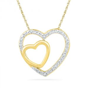 Buy Jpearls 18 Kt Gold Valentines Day Special Our Love Diamond Pendant online