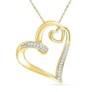 Buy Jpearls Prety Heart Diamond Pendant online