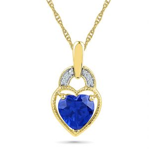 Buy Sri Jagdamba Pearls Hanging Heart Diamond Pendant online