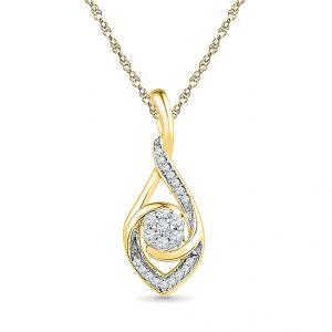 Buy Sri Jagdamba Pearls 0.08 Carat Diamond Pendant-pk019635 online