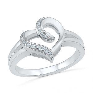 Buy Sri Jagdamba Pearls Love Life Heart Diamond Finger Ring-rh074022 online
