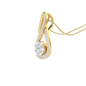 Buy Sri Jagdamba Pearls 18 Kt Gold 0.315 Carat Sunshine Diamond Pendant-sdls14732 online