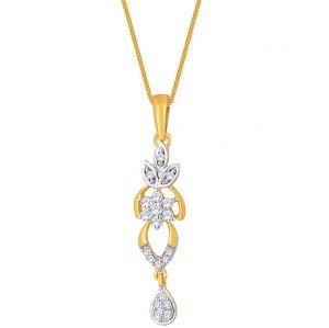 Buy Maya Diamond Yellow Gold Diamond Pendant Npa390si-jk18y online