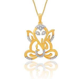 Buy Saumya Yellow Gold Diamond Pendant Pp10129si-jk18y online