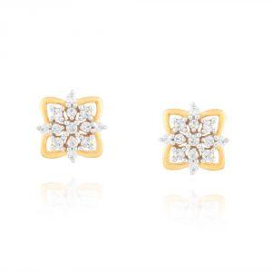 Buy Sangini Yellow Gold Diamond Earrings Pra1e3449si-jk18y online