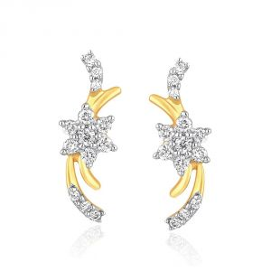 Buy Nakshatra Yellow Gold Diamond Earrings Nera442si-jk18y online