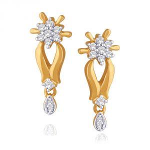 Buy Maya Diamond Yellow Gold Diamond Earrings Nterb031si-jk18y online