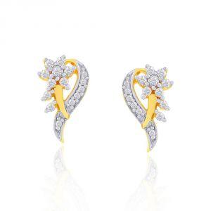 Buy Nakshatra Yellow Gold Diamond Earrings Nera393si-jk18y online