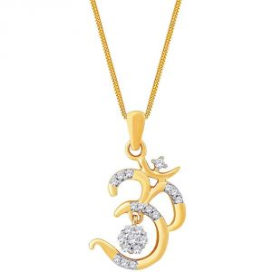 Buy Saumya Yellow Gold Diamond Pendant Npc420si-jk18y online