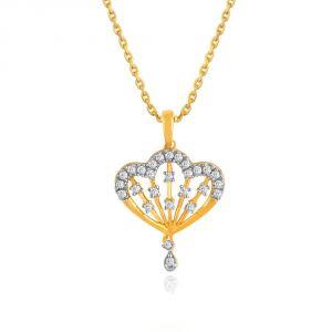 Buy Shuddhi Yellow Gold Diamond Pendant Pp19756si-jk18y online