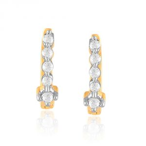 Buy Gili Yellow Gold Diamond Earrings Ye336si-jk18y online