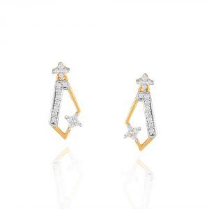 Buy Asmi Yellow Gold Diamond Earrings Dgpse0031si-jk18y online
