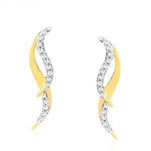 Buy Gili Yellow Gold Diamond Earrings Oe511si-jk18y online