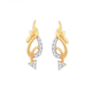 Buy Shuddhi Yellow Gold Diamond Earrings Ide00739si-jk18y online