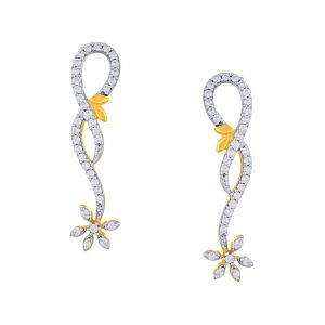 Buy Maya Diamond Yellow Gold Diamond Earrings Pe19689si-jk18y online