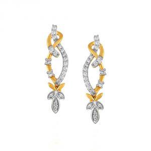 Buy Asmi Yellow Gold Diamond Earrings Pe20126si-jk18y online