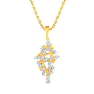 Buy Asmi Yellow Gold Diamond Pendant Pp12707si-jk18y online