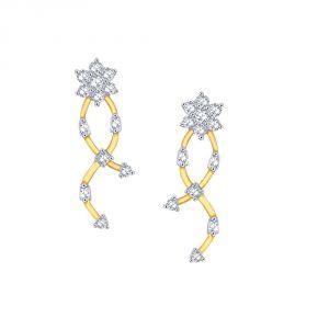 Buy Nakshatra Yellow Gold Diamond Earrings Nerb063si-jk18y online