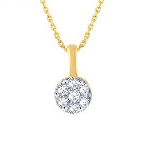 Buy Nirvana Yellow Gold Diamond Pendant Ip563si-jk18y online