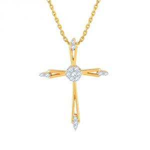 Buy Saumya Yellow Gold Diamond Pendant Ip325si-jk18y online