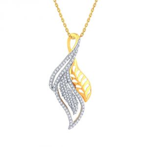Buy Asmi Yellow Gold Diamond Pendant online