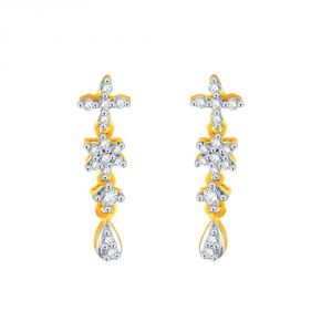 Buy Nakshatra Yellow Gold Diamond Earrings Apse1057si-jk18y online
