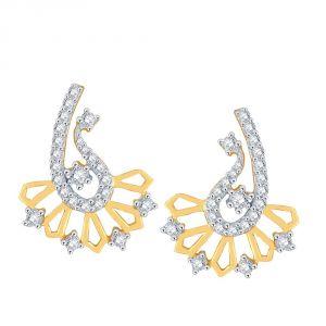 Buy Sangini Yellow Gold Diamond Earrings De178si-jk18y online