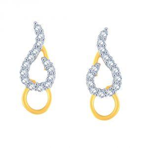Buy Asmi Yellow Gold Diamond Earrings Dgpse0015si-jk18y online