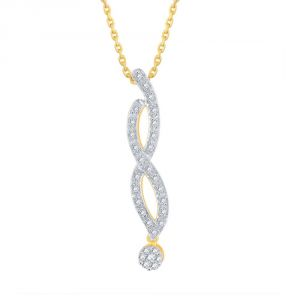 Buy Nirvana Yellow Gold Diamond Pendant Dnp355si-jk18y online