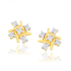 Buy Saumya Yellow Gold Diamond Earrings online