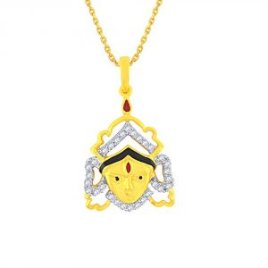 Buy Saumya Yellow Gold Diamond Pendant Pp12293si-jk18y online