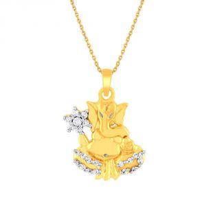 Buy Saumya Yellow Gold Diamond Pendant Npc349si-jk18y online