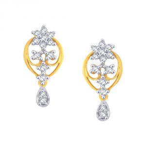 Buy Nakshatra Yellow Gold Diamond Earrings Pe13619si-jk18y online