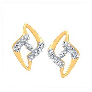 Buy Asmi Yellow Gold Diamond Earrings Pe16941si-jk18y online