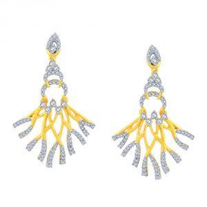 Buy Sangini Yellow Gold Diamond Earrings Baep153si-jk18y online