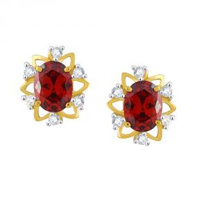 Buy Parineeta Yellow Gold Diamond Earrings Baep409si-jk18y online