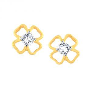 Buy Me-solitaire Yellow Gold Diamond Earrings De115si-jk18y online