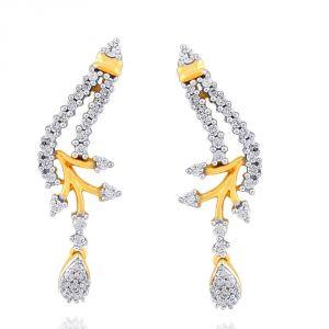 Buy Sangini Yellow Gold Diamond Earrings Ee331si-jk18y online