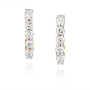 Buy Gili Yellow Gold Diamond Earrings Ee388si-jk18y online