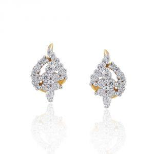 Buy Sangini Yellow Gold Diamond Earrings Ee602si-jk18y online
