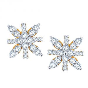 Buy Sangini Yellow Gold Diamond Earrings Ee655si-jk18y online