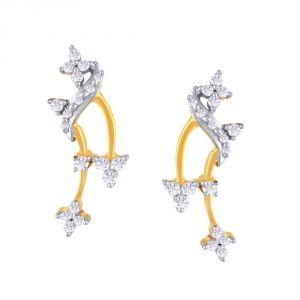 Buy Asmi Yellow Gold Diamond Earrings Fe219si-jk18y online