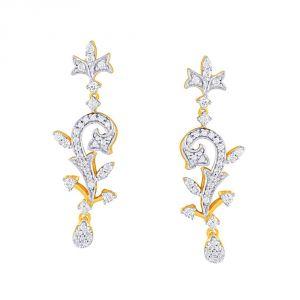 Buy Asmi Yellow Gold Diamond Earrings Fe719si-jk18y online