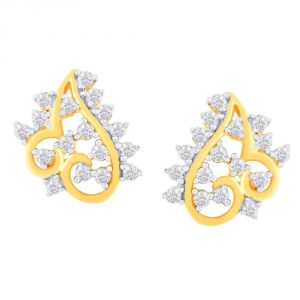 Buy Sangini Yellow Gold Diamond Earrings Fe963si-jk18y online