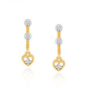 Buy Gili Yellow Gold Diamond Earrings Ge8316si-jk18y online