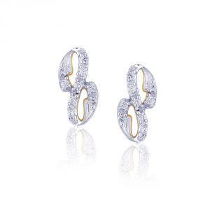 Buy Asmi Yellow Gold Diamond Earrings Ide00354si-jk18y online