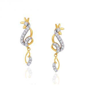 Buy Asmi Yellow Gold Diamond Earrings online