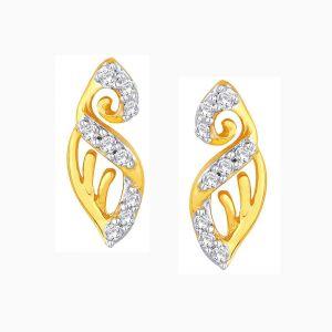 Buy Shuddhi Yellow Gold Diamond Earrings Ide00457si-jk18y online