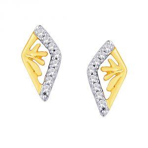Buy Asmi Yellow Gold Diamond Earrings Ide00518si-jk18y online