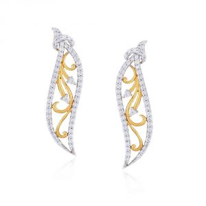 Buy Asmi Yellow Gold Diamond Earrings Ide00549si-jk18y online